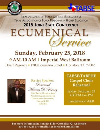 Ecumenical Service - 2018 TABSE Coference