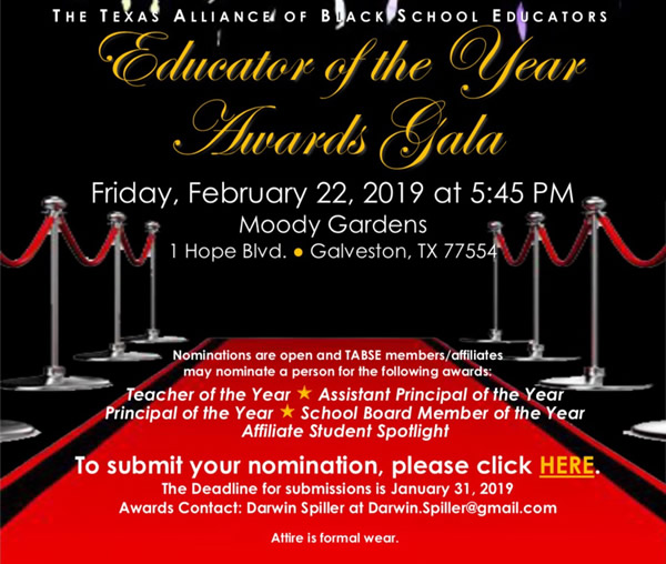 TABSE 2019 Educator of the Year Awards Gala