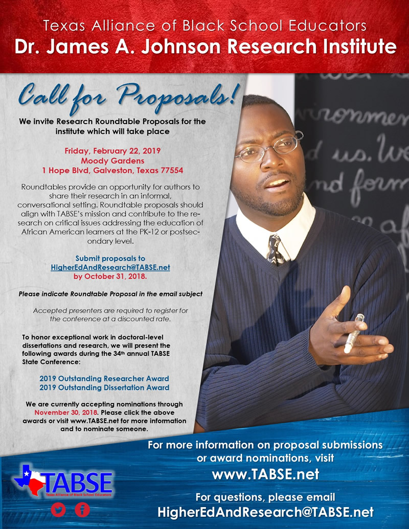 Research Institute - Call For Proposals and Award Nominations
