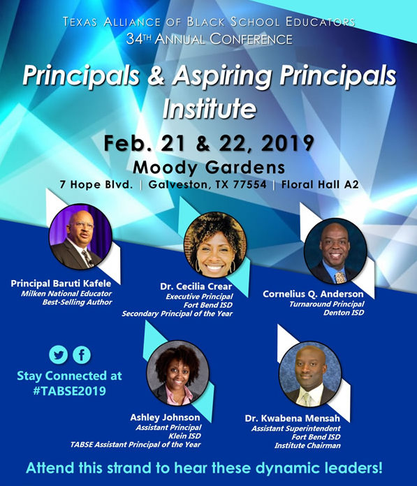 TABSE 34th Annual Conference – February 19-24, 2019 at Moody Gardens