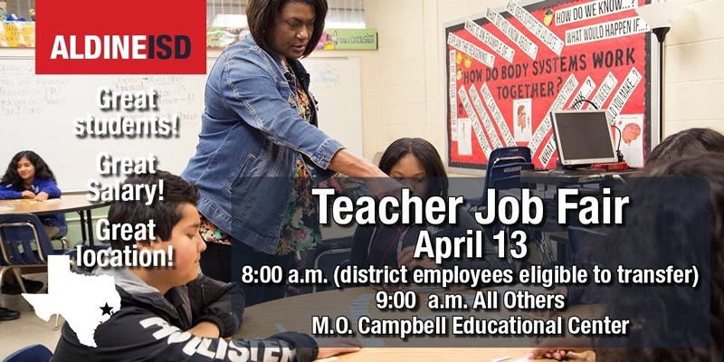 Aldine ISD - Teacher Job Fair April 13 2019