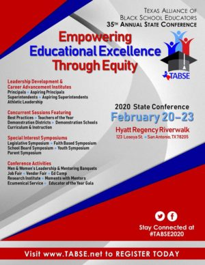 2020 TABSE State Conference Flyer