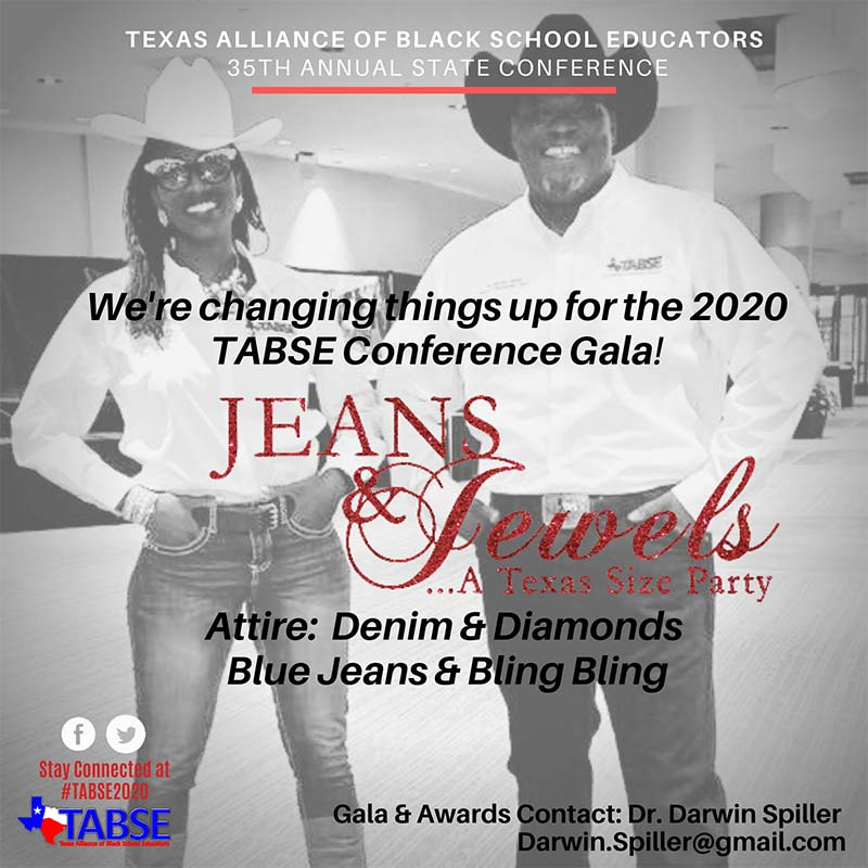 TABSE 2020 Gala Theme and Attire Notice