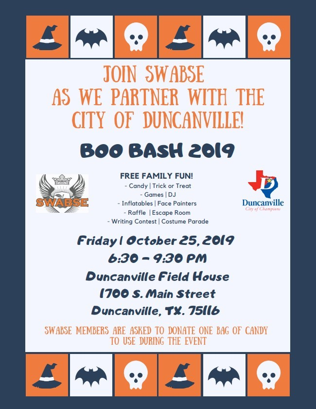 SWABSE Boo Bash 2019 @ Duncanville Field House