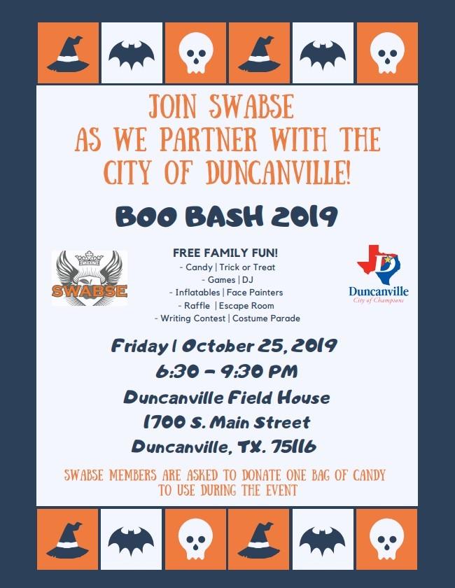 BOO BASH 2019 - SWABSE