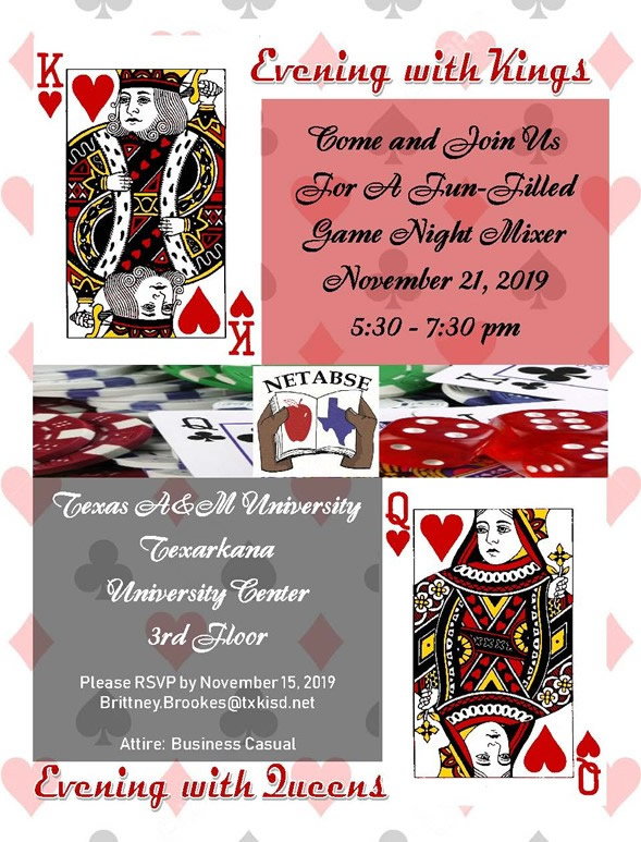 NETABSE Mixer – Evening with Kings @ Texas A&M University Center (3rd Floor)