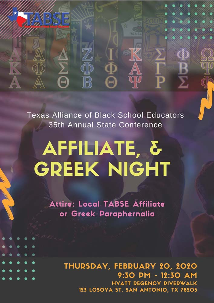 Affiliate, Chapter & Greek Night 2020