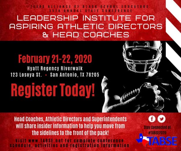 Leadership Institute For Aspiring Athletic Directors & Head Coaches 2020