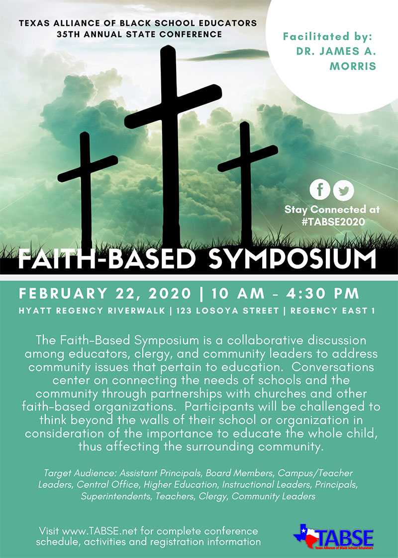 Faith-Based Symposium Flyer