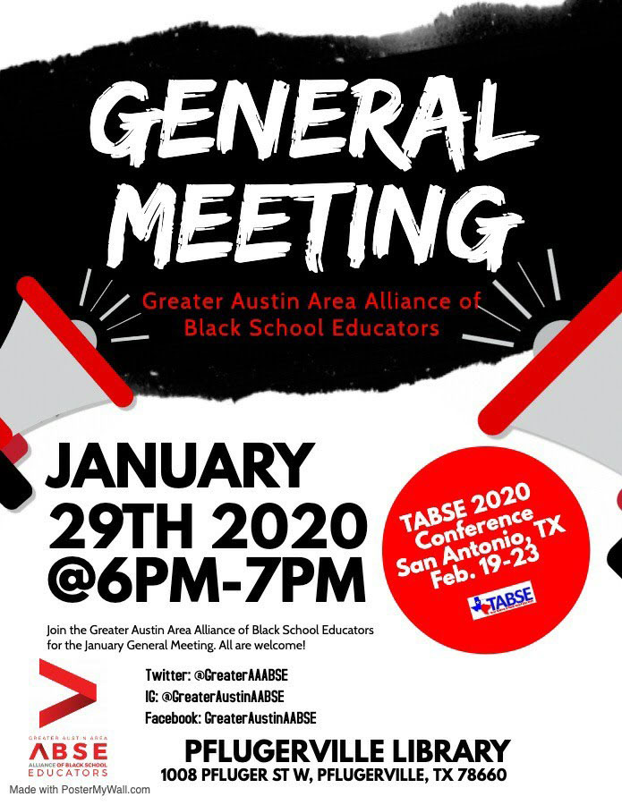 Greater Austin AABSE General Meeting