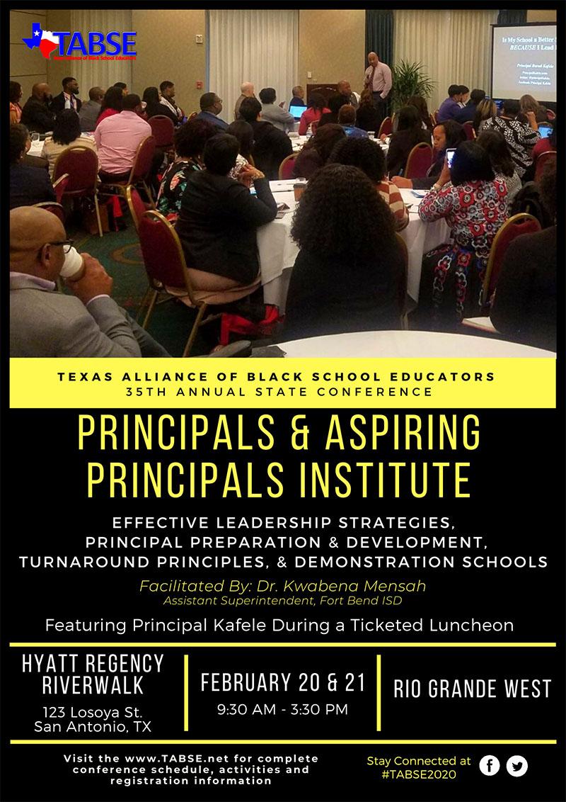 Principals & Aspiring Principals Institute