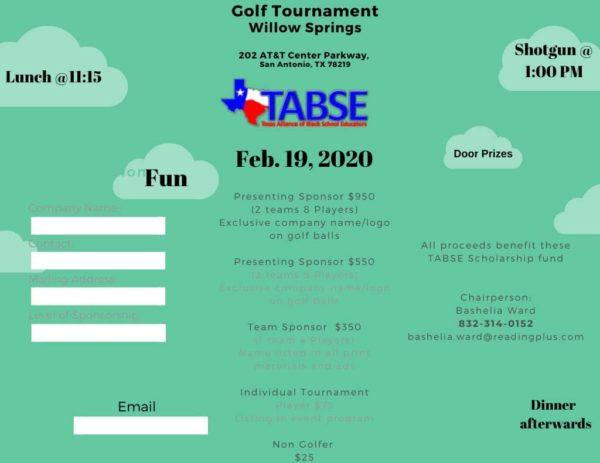 TABSE 2020 Conference Golf Tournament Details