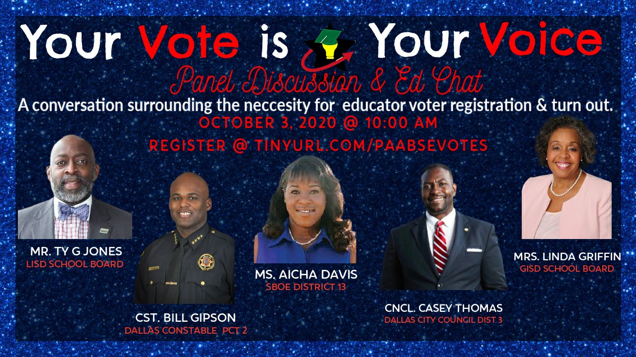 TABSE Your Voice Your Choice Oct 3 2020