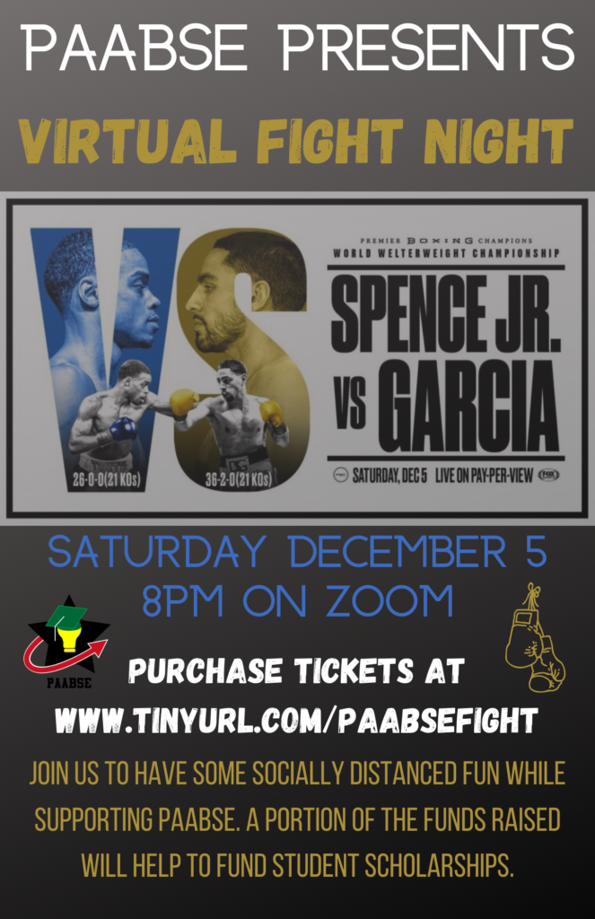 PAABSE Presents Virtual Fight Night – Spence Jr. vs Garcia @ Virtual via Zoom