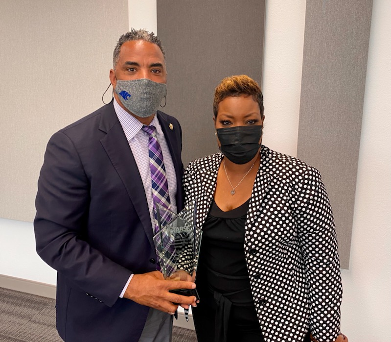 Crowley Superintendent Dr. Michael McFarland & TABSE Demonstration District Chairperson Dr. Cherie Washington