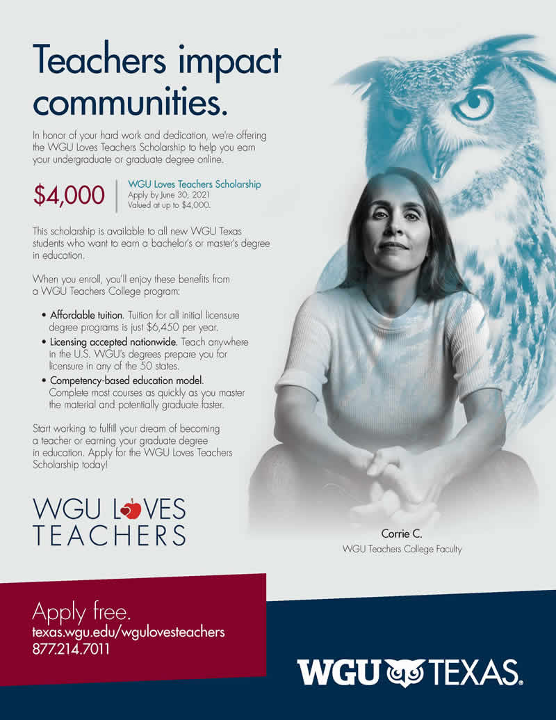 WGU Teacher Appreciation Week Scholarship 2021 - TABSE Membership