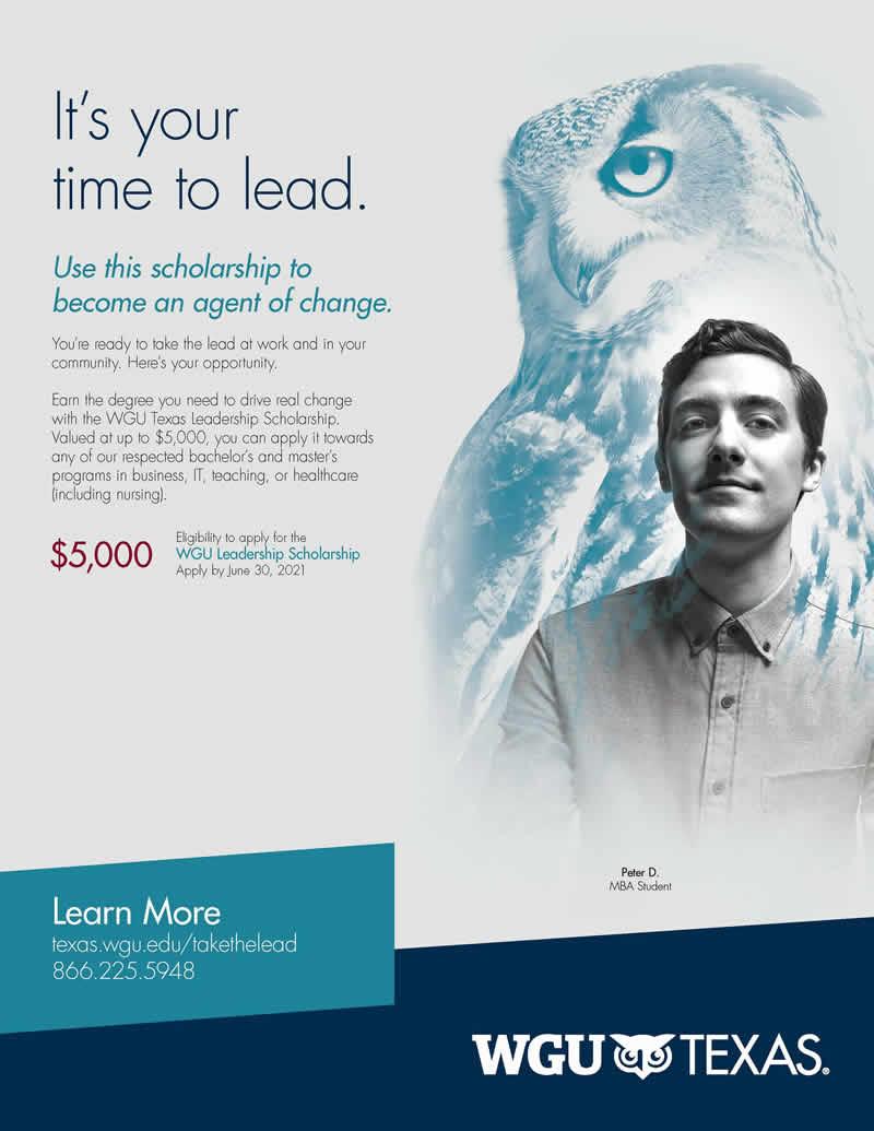 WGU Texas Leadership Scholarship - TABSE Membership